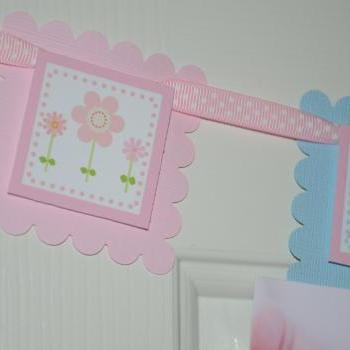 First Year Photo Mini Clips, First Year Banner, Butterfly Garden Birthday Party, Pastel Colors